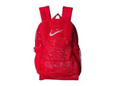 Nike Brasilia Mesh Backpack 9.0 (University Red/University Red/White) Backpack Bags