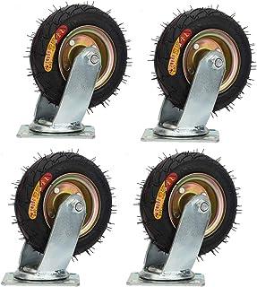 YJJT Zware wielen, zwenkwielen, 6 mm dikke beugel, slijtvast, duurzaam, trolley vervangende wielen, met dubbele lagers en ...