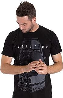 Mitsubishi Evolution 9 Evo Ralliart CT9A 4G63 JDM Split Tee Mens Black Shirt