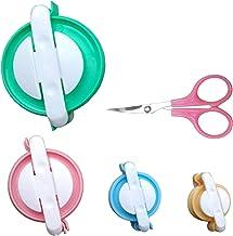 Pom Pom Makers – 4 Sizes Pompom Making Tool Set with Small Scissors, Easy Way to Make Pompoms