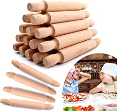 20 Pieces Mini Rolling Pins for Crafts, 6 Inch Wooden Kids Mini Rolling Pin Dumpling Ravioli Rolling Pin Dough Roller, Fre...