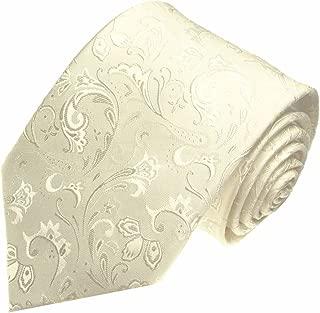 champagne ivoire Lorenzo Cana Cravate en soie italienne 100/% soie tr/ès noble avec un motif paisley en blanc
