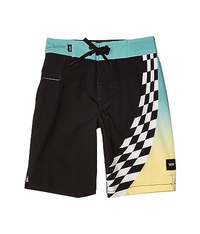 Vans Kids Warped Sidestripe Boardshorts (Little Kids/Big Kids) (Black) Boy