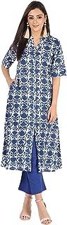Ayan Fashions Cotton Floral Kurta Pant Set for Women
