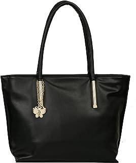 Butterflies Women Texture Handbag (Black) (BNS 0661BK)