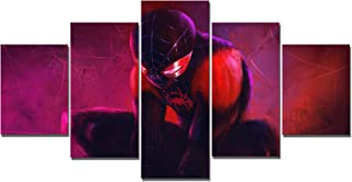 Miles Morales Spiderman Canvas Posters Home Decor Wall Art Framework 5 Pieces Paintings for Living Room HD Prints Pictures