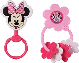 Disney Minnie Mouse Combo Pack Character Rattle & Keyring Teether, Minnie