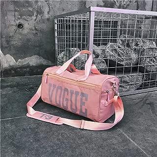 YALADLY Travel Bag Fitness Bag Men and Women Large Capacity Short Trip Travel Dry and Wet Separation Crossbody Shoulder Bag Light Waterproof (Color : Pink)
