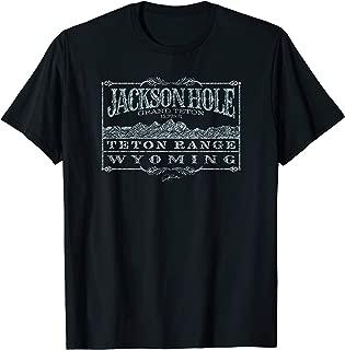 Jackson Hole, WY, with Teton Range (Distressed) T-Shirt