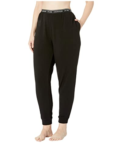 Calvin Klein Underwear Plus Size One Basic Lounge French Terry (Full Figure) Joggers (Black) Women