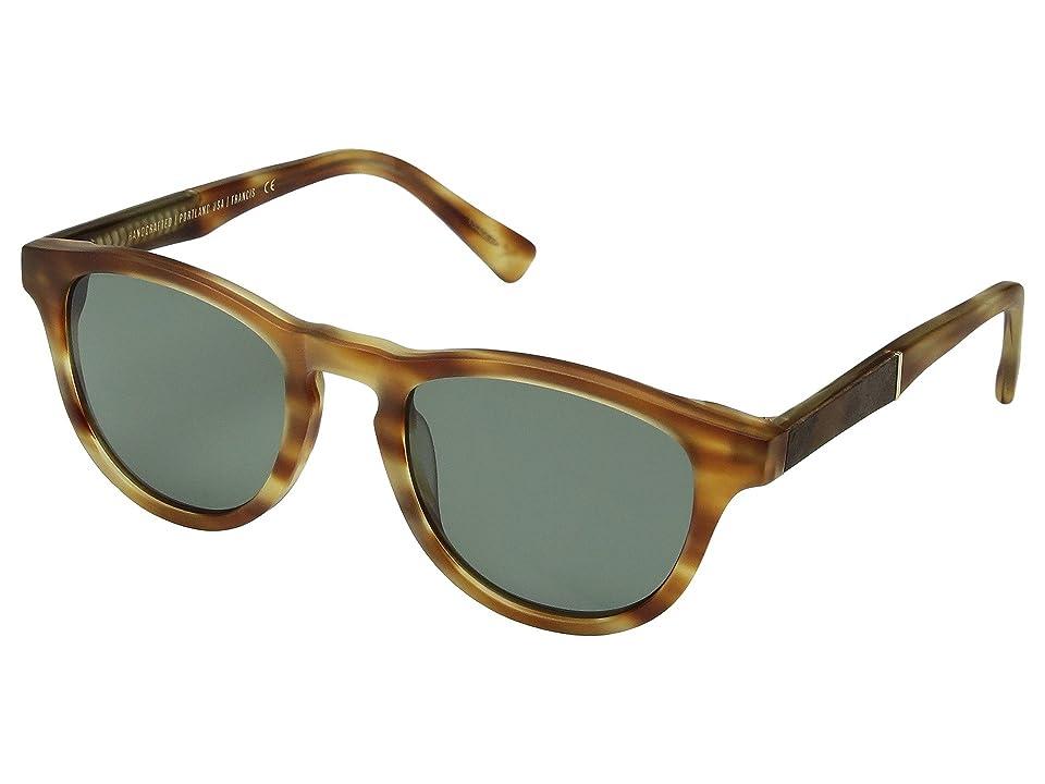 Shwood Francis (Matte Honey/Elm Burl/G15 Polarized) Sport Sunglasses