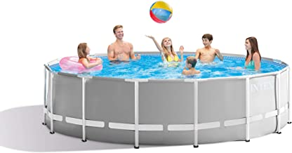 Intex 26725EH Prism Frame Set Above Ground Pool, 15ft X 48in, Gray