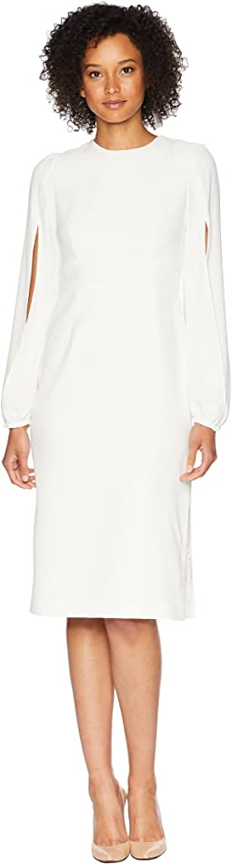 Shift Dress with Slits in Sleeves