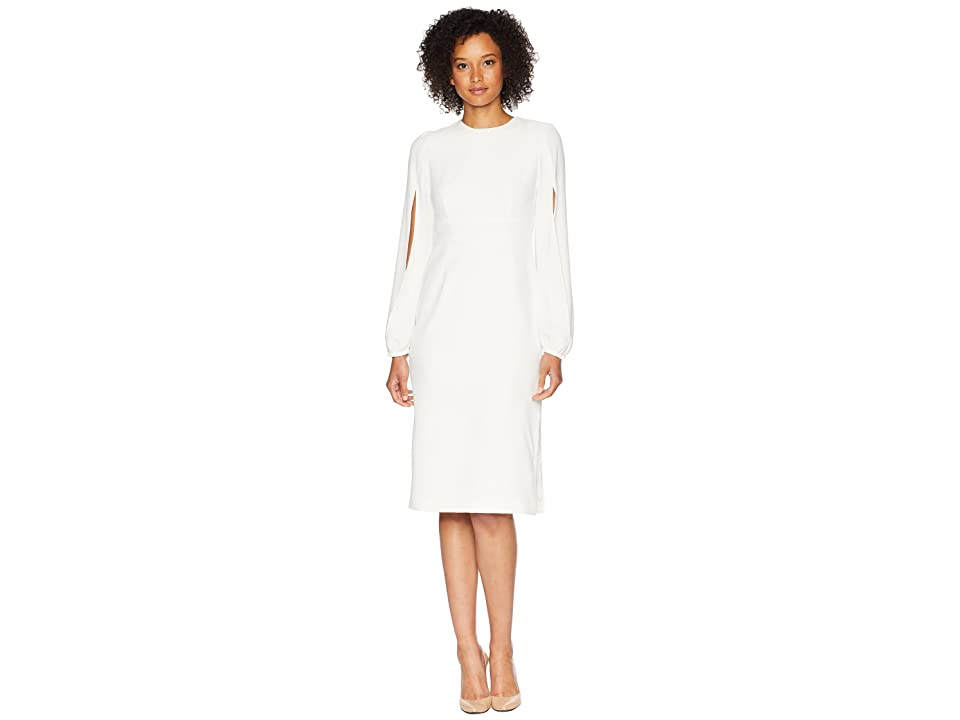 JILL JILL STUART Shift Dress with Slits in Sleeves (Off-White) Women