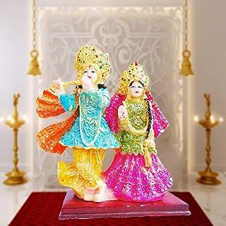 KD HUB Lord Radha Krishna Love Couple Statue God Shri Krishan Idol Makhan Chor/Bal Gopal Spiritual Puja vastu Showpiece Fi...