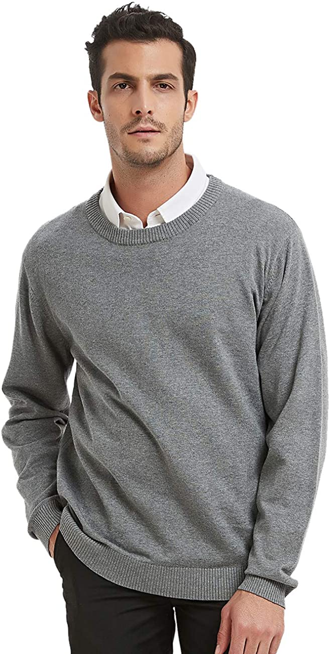 TOPTIE Mens Pullover Sweaters Casual Slim Fit Knitted Thermal Basic Designed