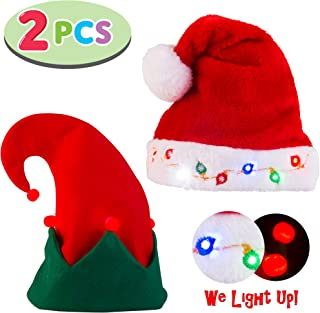 light up musical elf hat