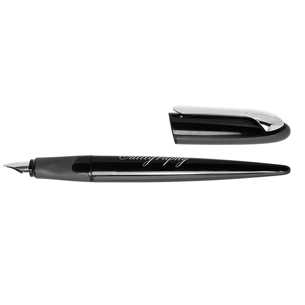 ONLINE Schreibger?te GmbH Calligraphy Set Fountain Pen In Magnet Box Calligraphy Pen, Black (ON10016)