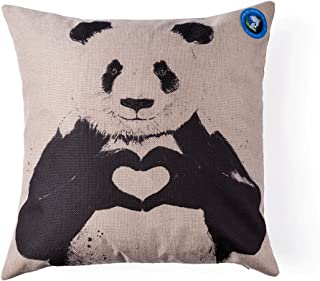 Dolphine Printed Create of Life Animal Style Cotton Linen Square Panda Pattern Sofa..
