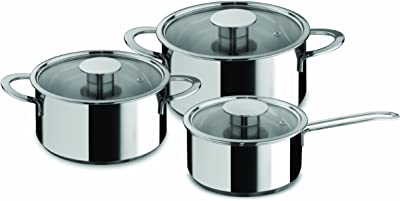 Mepra Gourmet Kitchen Cookware Set - 6 Pcs. Stainless Steel Spaghetti Pot for Induction, Halogen, Electric Hobs