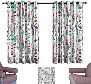 Mannwarehouse Feather Thermal Curtains Marine Chains Style Darkening and Thermal Insulating 55