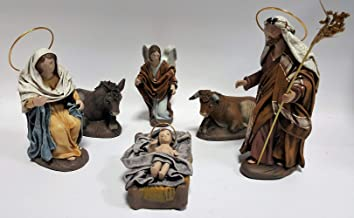 Arte Pesebre Nacimiento en Barro lienzado para Figuras de 14 cm
