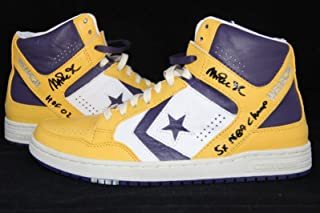 57ce31a2230 Magic Johnson signed Converse Weapons autographed shoes ITP 7A28135 7A28136  - PSA DNA Certified -