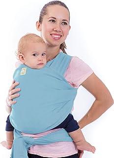 婴儿包裹背带全合一弹性婴儿抱被 - 婴儿背带 - 婴儿背带 - 婴儿包裹 - 免提婴儿背带 - *佳婴儿送礼礼物 浅蓝色