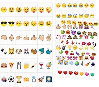 kwmobile Emoji Light Box Cards 126 Tiles - A5 Size for LED Marquee Cinema Sign Color Emoji Symbols Hearts Smiley Faces Animals and More