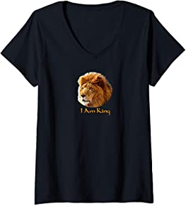 I am King V-Neck T-Shirt