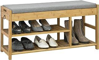 SoBuy £awka do butów z poduszką siedziska FSR47-N