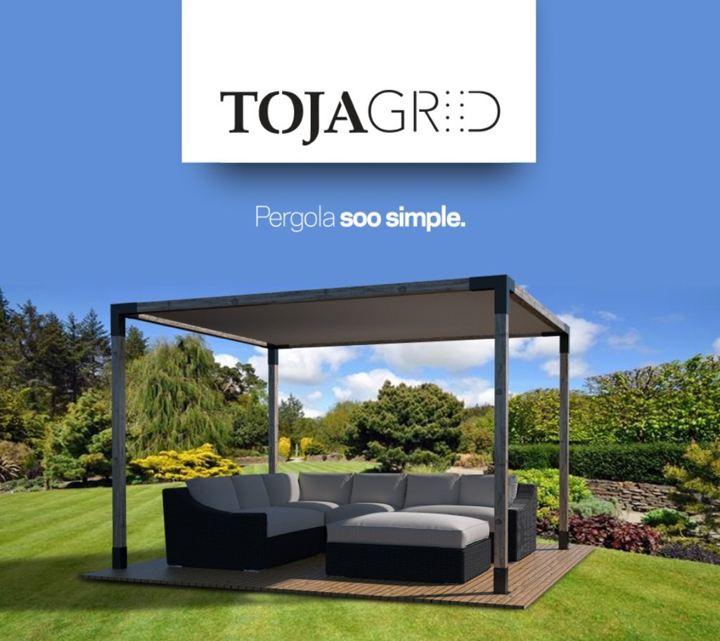 Toja Grid Pergola 12 x 12 Kit – pantalla en color blanco: Amazon.es: Jardín