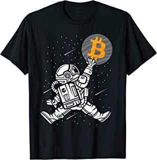 Bitcoin To The Moon Shirt Astronaut Bitcoin HODL BTC Crypto T-Shirt