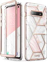 i-Blason Samsung Galaxy S10 Case, [Cosmo] Glitter Sparkle Bumper Protective Case Without Built-in Screen Protector for Galaxy S10 (2019 Release) (Marble)