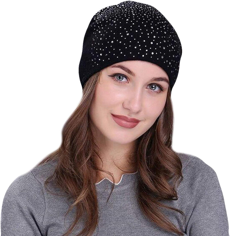 Honanda Womens Warm Beanie Hat Soft Knit Winter Fleece Skull Cap