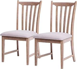 Furgle Set of 2 Dining Side Chair Oak Wood Modern Kitchen...