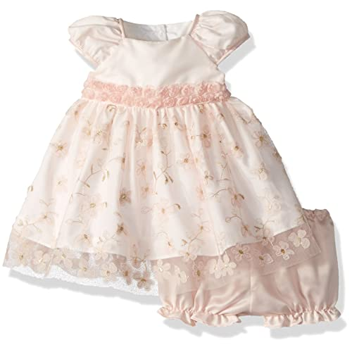 d1d9eb273 Laura Ashley London Baby Girls Embroidered Puff Sleeve Party Dress