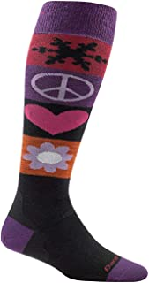 Darn Tough Vermont Women's Peace Love Snow Over The Calf Light Socks