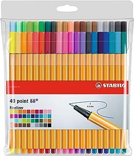 Fineliner - STABILO point 88 - Astuccio da 40 - Colori assortiti