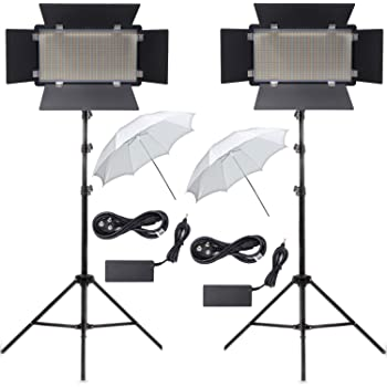 OCTOVA OC-600 Mark III Bi-Color Continuous Dimmable Professional LED Photo & Video Light DUAL Kit with AC Power Adapter for Film Making,YouTube Shooting,Studio Videography,Portrait,Product Photography