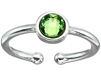 Alex and Ani August Birthstone Adjustable Ring (Sterling Silver) Ring