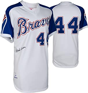 Hank Aaron Atlanta Braves Autographed Mitchell and Ness 1974 Authentic Jersey - Fanatics Authentic Certified