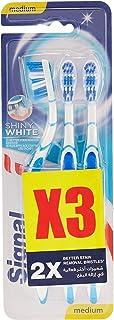 Signal Toothbrush Shiny White Medium Multipack - Pack of 3