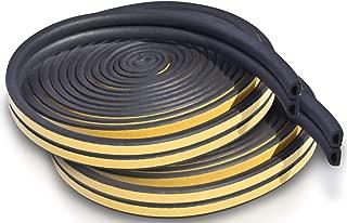 Door and Window Foam Seal Tape 2 Pack: Self-Adhesive EPDM Draft Stopper for Indoor and Outdoor Door Insulation Weather Strip, Gap Draught Blocker, Soundproofing Tape(10ft x 4 Seals - Black)