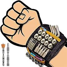 flintronic Magnetische Armband Met 20 Sterke Sterke Magneten Voor Het Vasthouden Van Schroeven, Spijkers, Boorbeitels, 2 O...