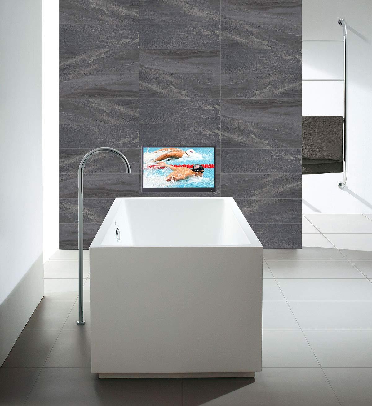 Soulaca 22 Pulgadas Smart TV Negro para Baño IP66 a Prueba de Agua ...