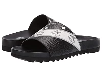 MCM M-Move Visetos Slide (Black) Men