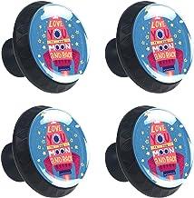 AITAI Set van 4 deurknop decoratieve handvat raket romantische zin elegante toevoeging voor kast lade dressoir slaapkamer