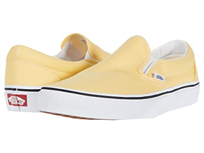 Vans Classic Slip-Ontm (Golden Haze/True White) Skate Shoes
