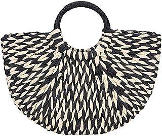 کیف دستی نی ، کیف زنانه چوبی زنانه تابستانی ساحل دستباف کیف دستی کیف دستی